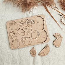 Hračky - Montessori vkladačka - Ovocie - 13360347_