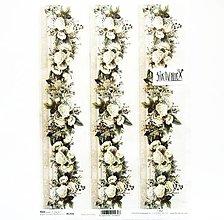 Papier - Ryžový papier na decoupage - A4 - R1794 - ruže, bordúra - 13361437_
