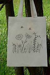 Nákupné tašky - Taška zo surovej bavlny Kreslená lúka - 13361585_