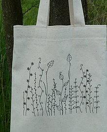 Nákupné tašky - Taška zo surovej bavlny Kreslená lúka fantázia - 13361637_