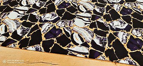 Textil - Kostýmovka - Čierno zlatá- cena za 10 cm - 13362712_