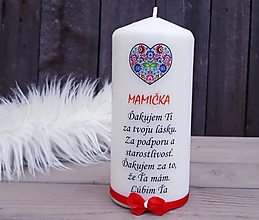 Svietidlá a sviečky - Sviečka pre mamu - 13363325_