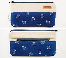 Peňaženky - Peňaženka - Tmavomodré kvety - 13362348_