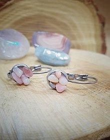 Náušnice - Náušnice ružový opál - 13360937_