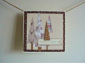 Papiernictvo - vianočná pohľadnica - 13363189_