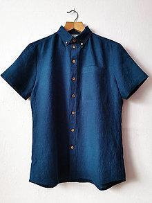 Oblečenie - Pánska ľanová košeľa - 13360320_