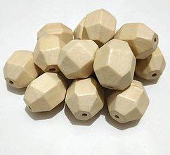 Korálky - Korálka drevená 24 x 20 mm - 13361499_