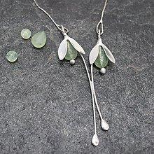 Náhrdelníky - Snežienky - náhrdelník - 13363010_