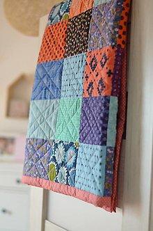 Úžitkový textil - Patchwork deka Indiánske leto - 13362660_