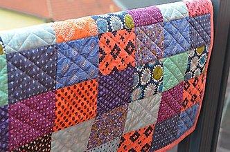 Úžitkový textil - Patchwork deka Indiánske leto - 13362666_
