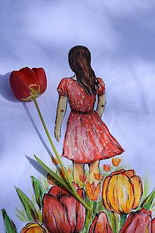 Tričká - tričko - dievča v ríši tulipánov - 13362171_