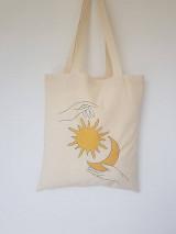 Nákupné tašky - •ručne maľovaná plátená taška - Sun & Moon• - 13361894_