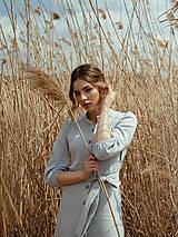 Šaty - Mušelínové šaty šedé - 13362461_