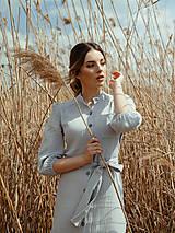 Šaty - Mušelínové šaty šedé - 13362462_