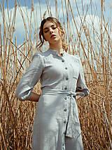 Šaty - Mušelínové šaty šedé - 13362464_