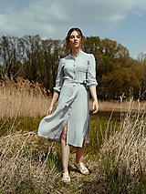 Šaty - Mušelínové šaty šedé - 13362467_