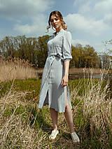 Šaty - Mušelínové šaty šedé - 13362468_