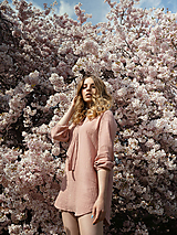 Šaty - Mušelínové šaty ružové - 13362741_