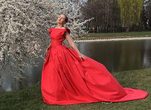 Šaty - Kráska v červenom - 13360570_