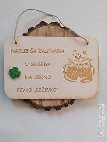 Tabuľky - Drevená tabuľka pre pivarov - 13361315_
