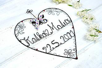 Dekorácie - Svadobné srdce - 13362377_