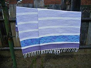 Úžitkový textil - Tkané koberce modro-fialové 2 ks - 13363533_