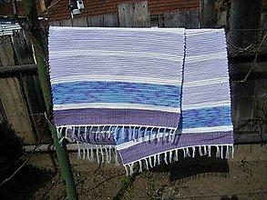 Úžitkový textil - Tkané koberce modro-fialové 2 ks - 13363544_