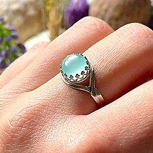 Prstene - ZĽAVA 20% Aqua Chalcedony Filigree Silver Ag925 Ring / Strieborný prsteň s aqua chalcedónom /A100 - 13364818_