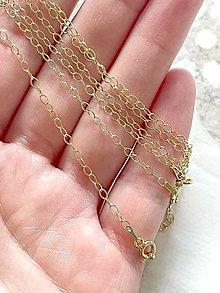 Náhrdelníky - Forzatina 2,2 Ag925 24k Gold Plated Chain / Pozlatená strieborná retiazka Ag925 - 13365147_