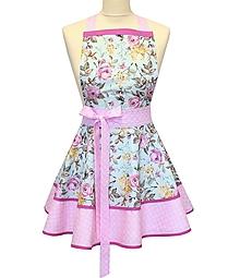 Iné oblečenie - zástera ROSES ON TYRKYS - 13365232_