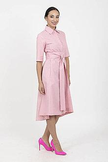 Šaty - MIESTNE KOŠEĽOVÉ ŠATY TAMARA (ružové) - 13364932_