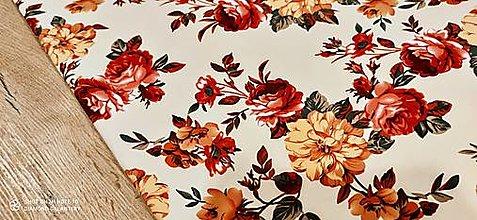 Textil - Kostýmovka - Ruže I - cena za 10 cm - 13365423_