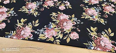 Textil - Kostýmovka -Pivónie - cena za 10 cm (Pestrofarebná I) - 13365435_