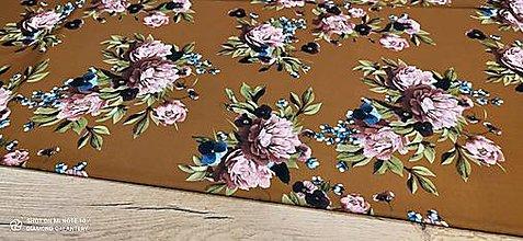 Textil - Kostýmovka -Pivónie - cena za 10 cm (Pestrofarená II) - 13365438_
