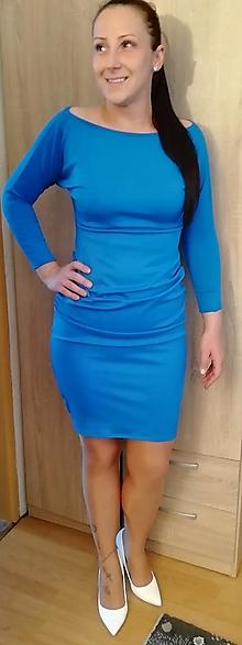 Šaty - Modré šaty - 13367392_