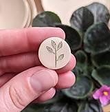 Odznaky/Brošne - mini rastlinná brošňa - 13366491_