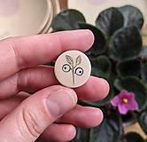 Odznaky/Brošne - mini rastlinná brošňa - 13366493_