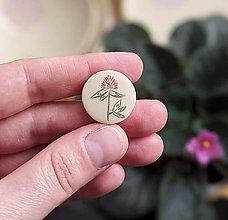 Odznaky/Brošne - mini rastlinná brošňa - 13366490_