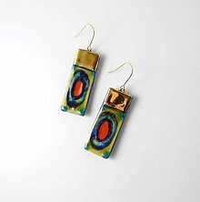 Náušnice - Tana šperky - keramika/zlato - 13364415_