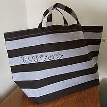 Nákupné tašky - PRUHOVANÁ ... taška svačinová - 13366717_