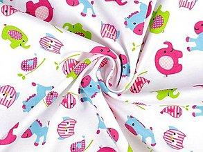Textil - Úplet bavlnený - detský motív - 13365055_