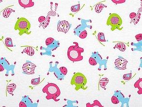 Textil - Úplet bavlnený - detský motív - 13365059_