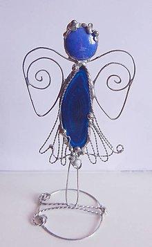 Dekorácie - Anjel modrý - 13366591_