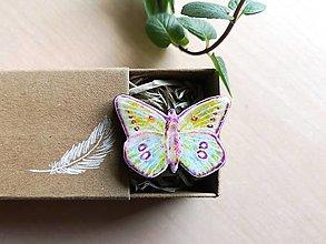 Odznaky/Brošne - Motýľ brošňa - 13364591_