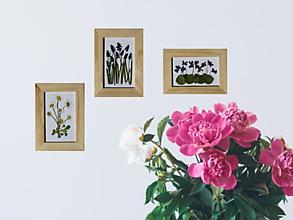 Obrazy - Obraz Fialky 3D lisované kvety Herbár - 13364694_