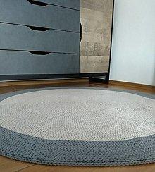 Úžitkový textil - Háčkovaný koberec - 13366966_