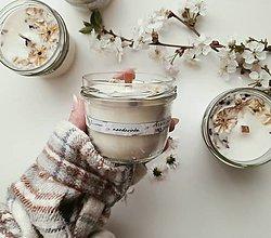 Svietidlá a sviečky - Prírodná sójová sviečka - mandarínka - 13366111_