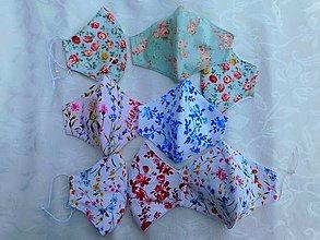 Rúška - Jemné kvetinové rúška z bavlny, 2 vrstvy - 13364421_