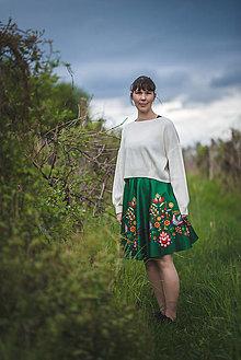 Sukne - Zelená sukňa Amália - 13365379_