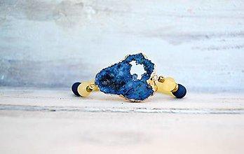 Náramky - Náramok z minerálov s achátovou drúzou - 13367301_